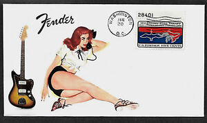 1965-Fender-Jazzmaster-amp-Pin-Up-Girl-Featured-on-Collector-039-s-Envelope-A485
