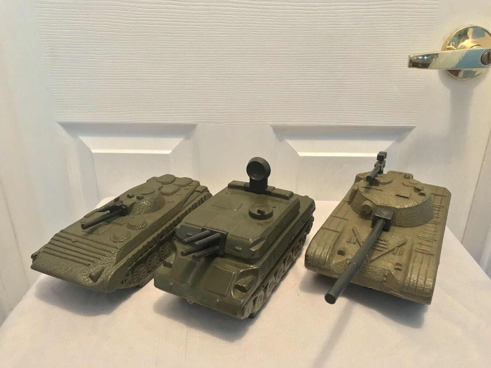 Lot of 3 Vintage Toy Military Tank Mold Prototypes