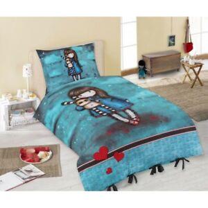 Copripiumino Letto Singolo Bambina.Bambina Bambola Azzurra Set Bed Santoro Gorjuss Copripiumino
