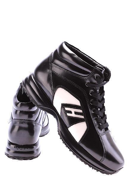 Recortes de precios estacionales, beneficios de descuento Zapatos Mujeres Sneakers Alta HOGAN BY KARL LAGERFELD Nero Porcellana Made IT