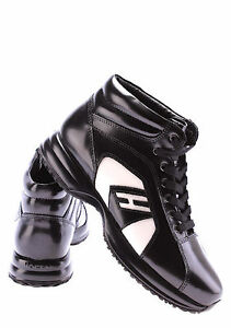 Scarpe Donna Polacco HOGAN BY KARL LAGERFELD Nero Porcellana Lusso Made Italy