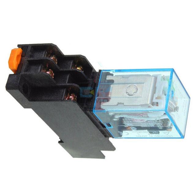 AC 220V 10A 8PIN LY2NJ Coil Power Relay HH62P JQX-13F With Socket Base