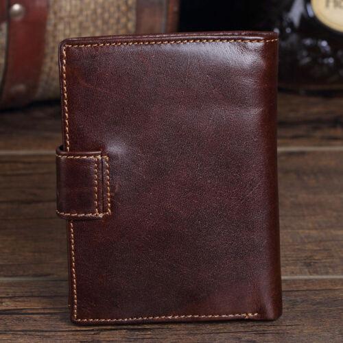 Men/'s Genuine Leather Wallet Coin Purse Card Case Mens Vintage Trifold Wallets