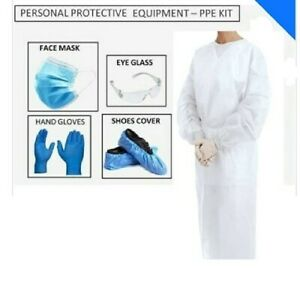 Disposable-PPE-Kit-for-Doctors-in-OPD-General-Wards-Clinics-90-GSM-White-Color