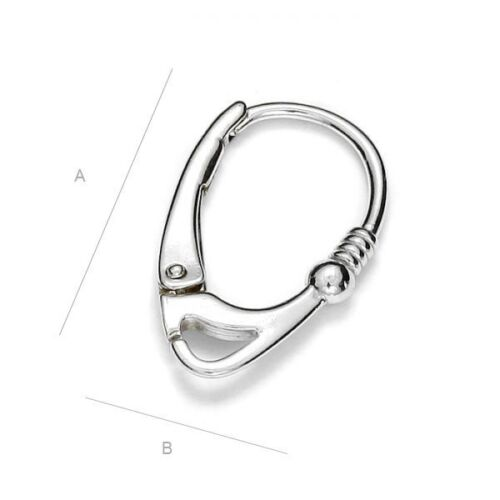 S1s1 Sterling silver 925 quality leverback earring hook for many type crystals