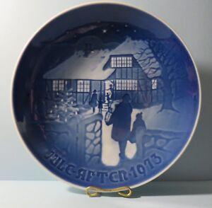 "Bing & Grondahl (B & G) 1973 Plate ""Country Christmas"". Limited Edition. Denmark"