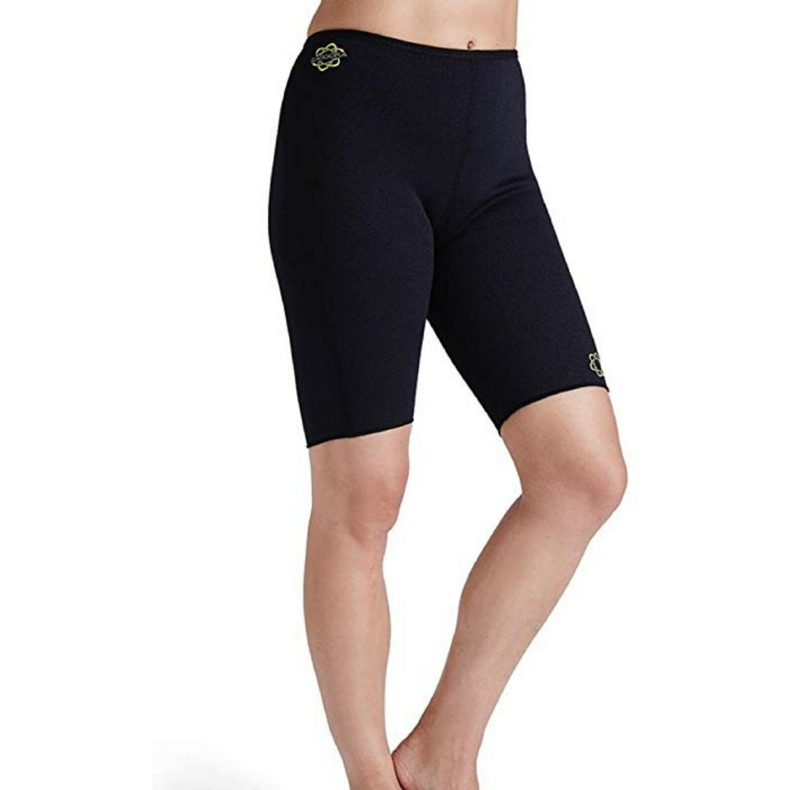 Zaggora Womens Large Black Neoprene Burmuda Hot Shorts