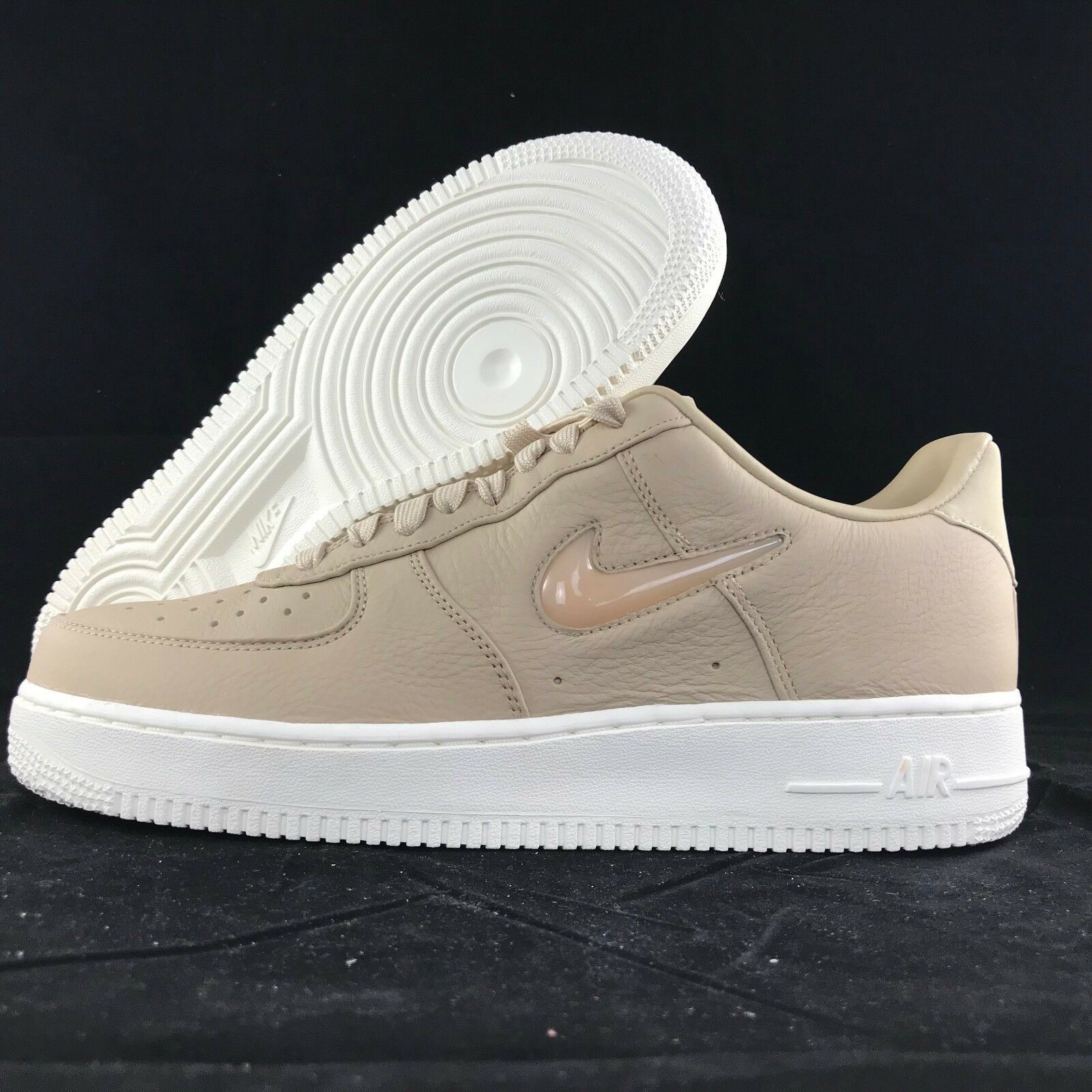 Nike Air One Force 1 One Air Retro PRM Mushroom Sail Jewel Swoosh 941912-200 Men's 7 NEW 0d1044