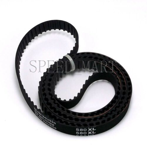 "580XL Timing Belt 290 Teeth Black Rubber Belt 0.5/"" 12.7mm Wide 58/"" Length"