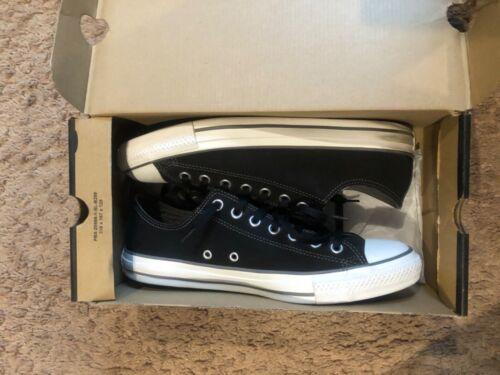 Men's Black Leather Converse- Chucks