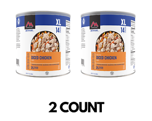 Mountain House Diced Chicken #10 Can | Freeze Dried Food | 14 Servings X 2 COUNT