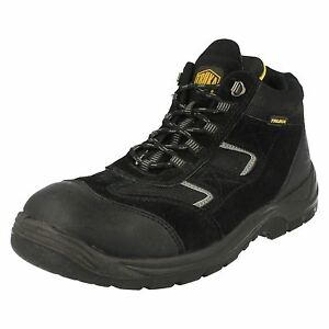 A3047- Mens Truka Lace Up Black Work Safety Boots- Great Price!