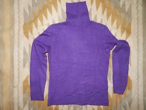 Sutton Studio ~ Bloomingdales ~ S 100% Cashmere Purple Turtleneck Sweater