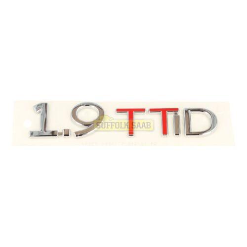 SAAB 93 9-3 9440 08-10MY CONVERTIBLE 1.9TTID REAR BADGE EMBLEM 12781579 NEW RARE