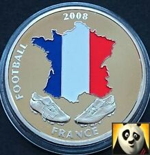2008 40mm UEFA EURO Football Championship With Coloured France Map Coin Medal