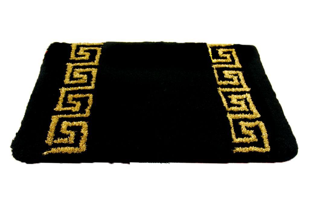 Esclusivo Mäander Tappetino da bagno nero-oro 50x60 50x60 50x60 cm & 90x60 cm PEDANA versac 0d2833