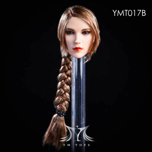"""YMTOYS Head model 1//6 Female YMT017 Head Sculpt  Long Hair Fit 12/"""" Figure Body"""