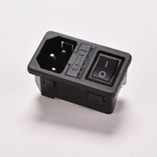 250V Max 15A max-- FAST Shipping IEC320 power socket with fuse /& SWITCH