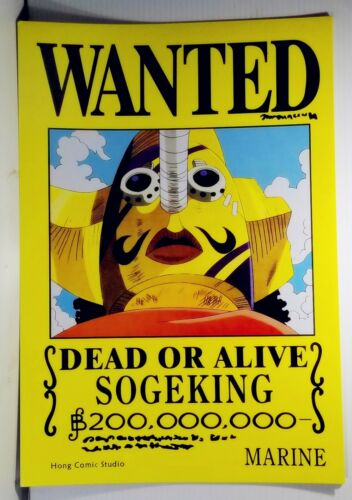 """Anime One Piece Pirates Wanted Poster 16.5/"""" x 11.25 Inchs"""
