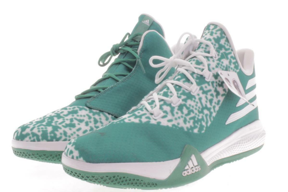 Mens Large Size  Adidas Made You Look  Green Basketball shoes 18 M..398B