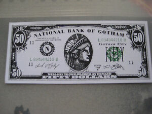 Details about Batman Forever Movie Prop Money $50 00 Bill ( Val Kilmer ) -  B3G1F