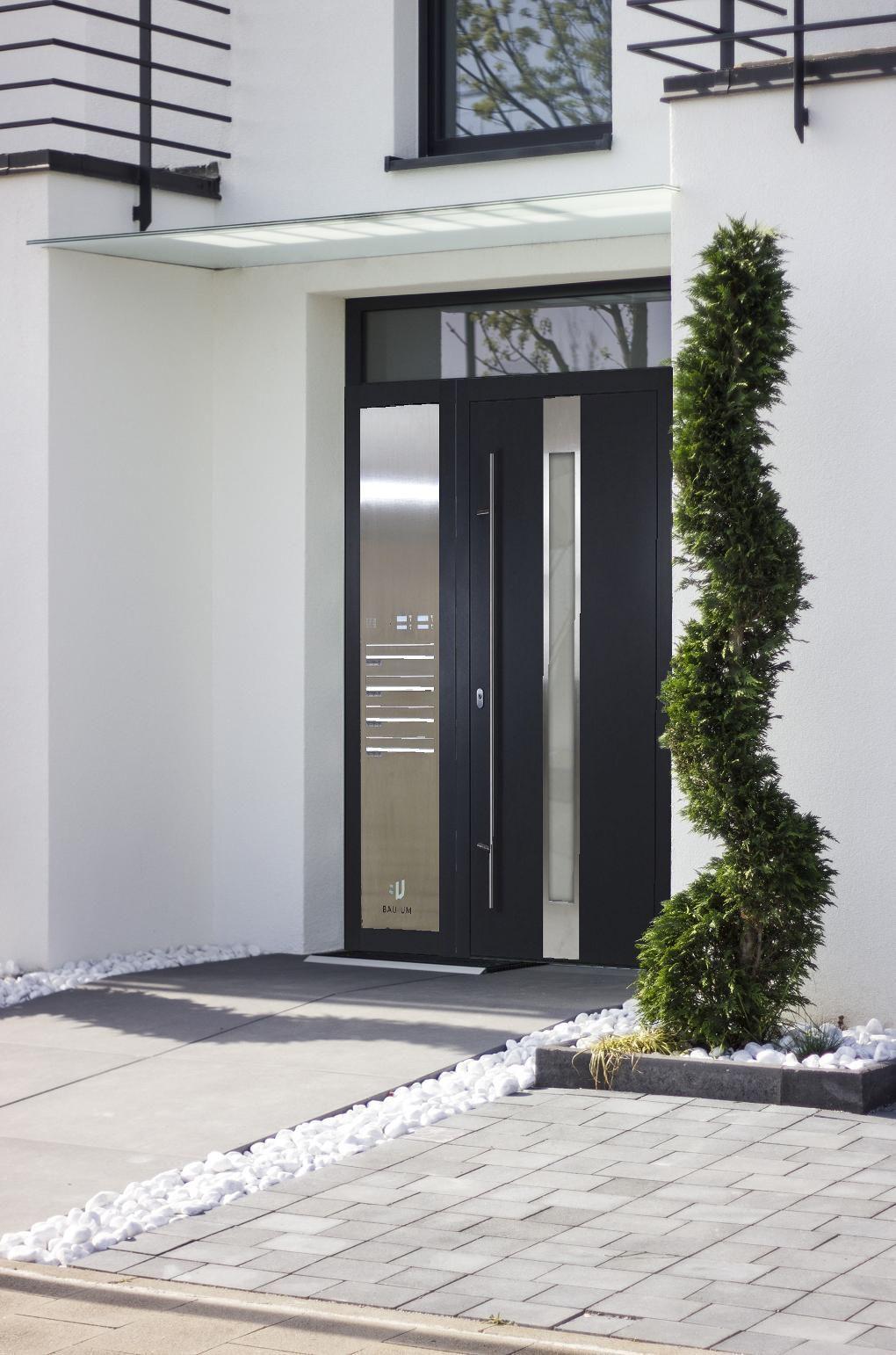 Haustür Eingangstür Briefkasten Aluminium Haustüren 0,8-1,1 U-Wert Türe