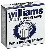 6 Pack Williams Mug Shaving Soap 1.75 Oz Each on sale