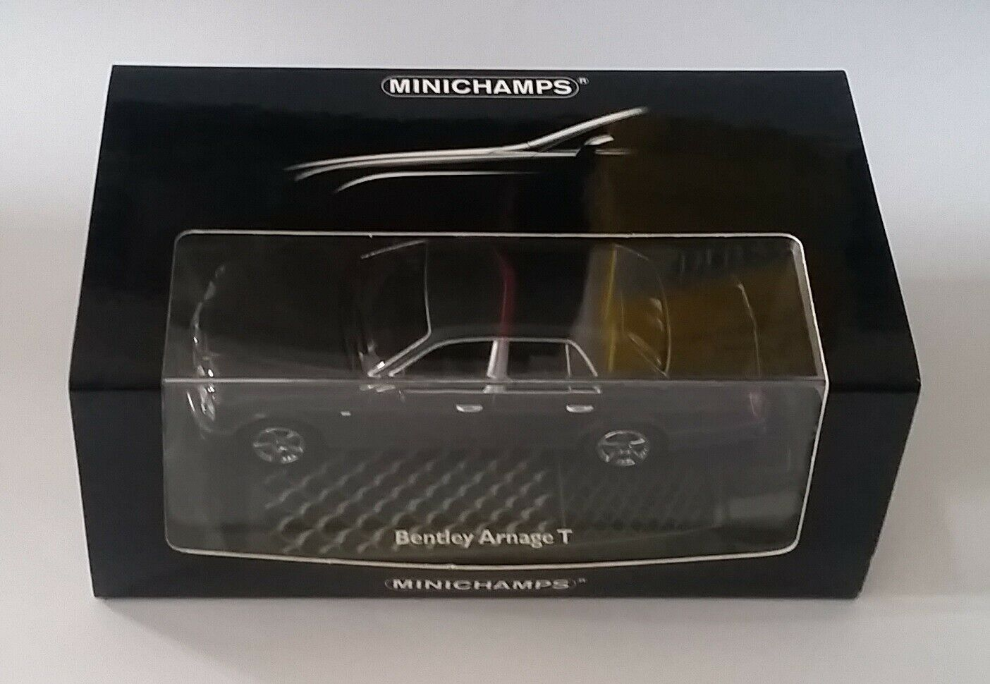 Minichamps 436 139071 Bentley Arnage T 2003 grå metall 1 43 Mint i ask
