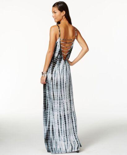 NWT Raviya Swim Swimsuit Cover Up Tie Dye Lattice Back Dress Black Size M