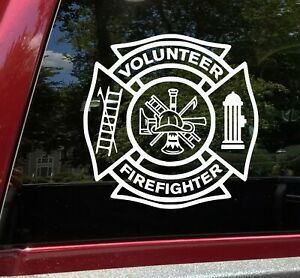 FIREFIGHTERS STILL MAKE HOUSE CALLS  Vinyl Fire Engine DECAL
