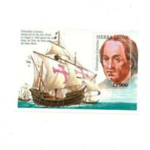 VINTAGE-CLASSICS-Sierra-Leone-1527-Columbus-Souvenir-Sheet-MNH