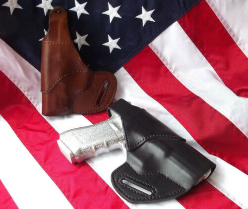 J/&J SIG SAUER P365 SUBCOMPACT OWB BELT CARRY FORMED LEATHER HOLSTER THUMB BREAK