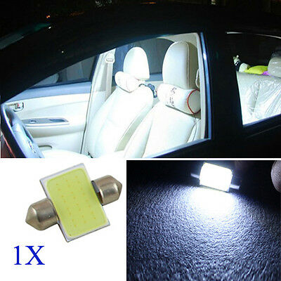 1x 31MM 12V White LED COB Festoon Dome Interior Bulb Car Reading Light Lamp New