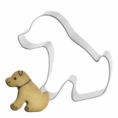 Acier inoxydable Chien Forme Cookie Cutter Biscuit Mold Moule Cake Decor cuisson
