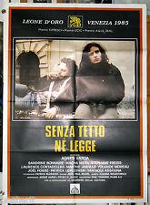 manifesto 2F film SANS TOIT NI LOI Sandrine Bonnaire Agnes Varda 1986