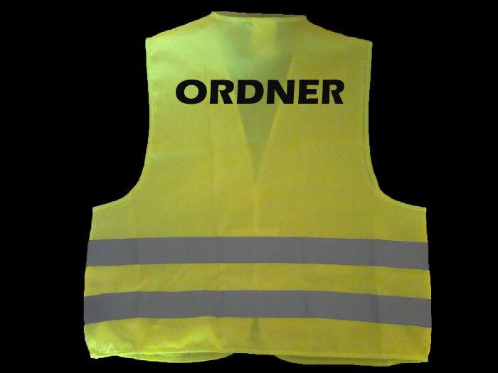 10 10 10 x Ordner westen Warnwesten Schutzweste Neongelb EN ISO 20471 2003 594f45