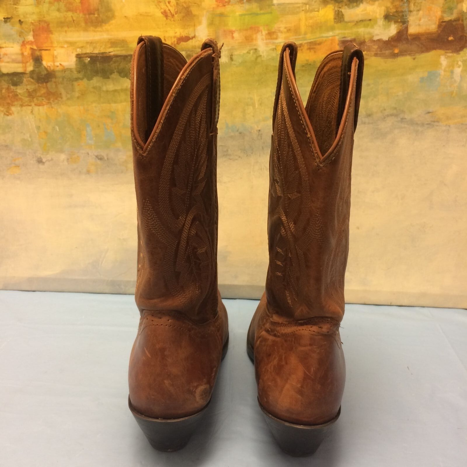 Damenschuhe BROWN UNBRANDED COWBOY LEATHER BROWN Damenschuhe Stiefel SIZE 8 M 49c0d0
