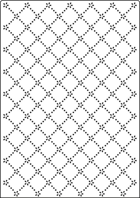 Crafts Too A4 Embossing Folder - CTA4019 Daisy Lattice REDUCED CLEARANCE