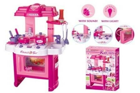 Girls kitchen play set - with Light & Sound