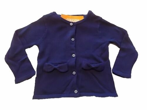 NWT Girl/'s Gymboree Mod about Orange blue striped sweater ~ 18-24 months 2T