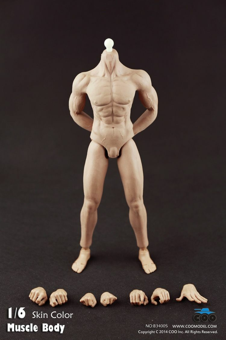 COO Model Soft Rubber Full Muscular Body Skin color  for 12  GI Joe Figure