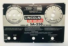 Lincoln Shield Arc Welders Sa 250 Part L 5790 Aluminum Control Plate