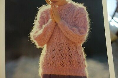 Hayfield Women/'s Luxury Mohair Sweater Knitting Pattern 3098