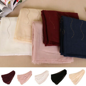 Muslim-Women-Long-Hijab-Scarf-Head-Wrap-Shawl-Stole-Scarves-Cotton-Islamic-India