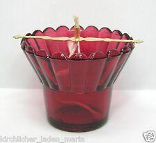 Glas für Öllampe Halter und Docht стакан лампадный стеклянный красный держатель