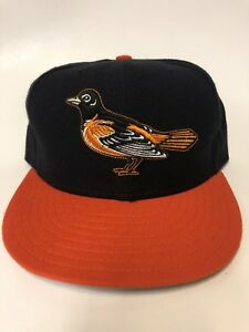 wholesale dealer b8962 54139 Image is loading Vintage-Baltimore-Orioles-New-Era-Fitted-7-3-
