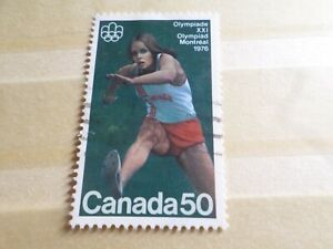 CANADA-timbre-YVERT-573-JEUX-OLYMPIQUES-SPORT-oblitere-VF-used-stamp