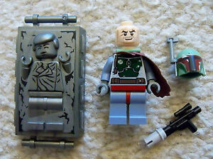 LEGO-Star-Wars-Rare-Boba-Fett-amp-Solo-In-Carbonite-Excellent-From-8097