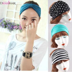 54f12ba86fd2 Women Headband Hair-Band Turban Knotted Head-wrap Yoga Sport Hair ...