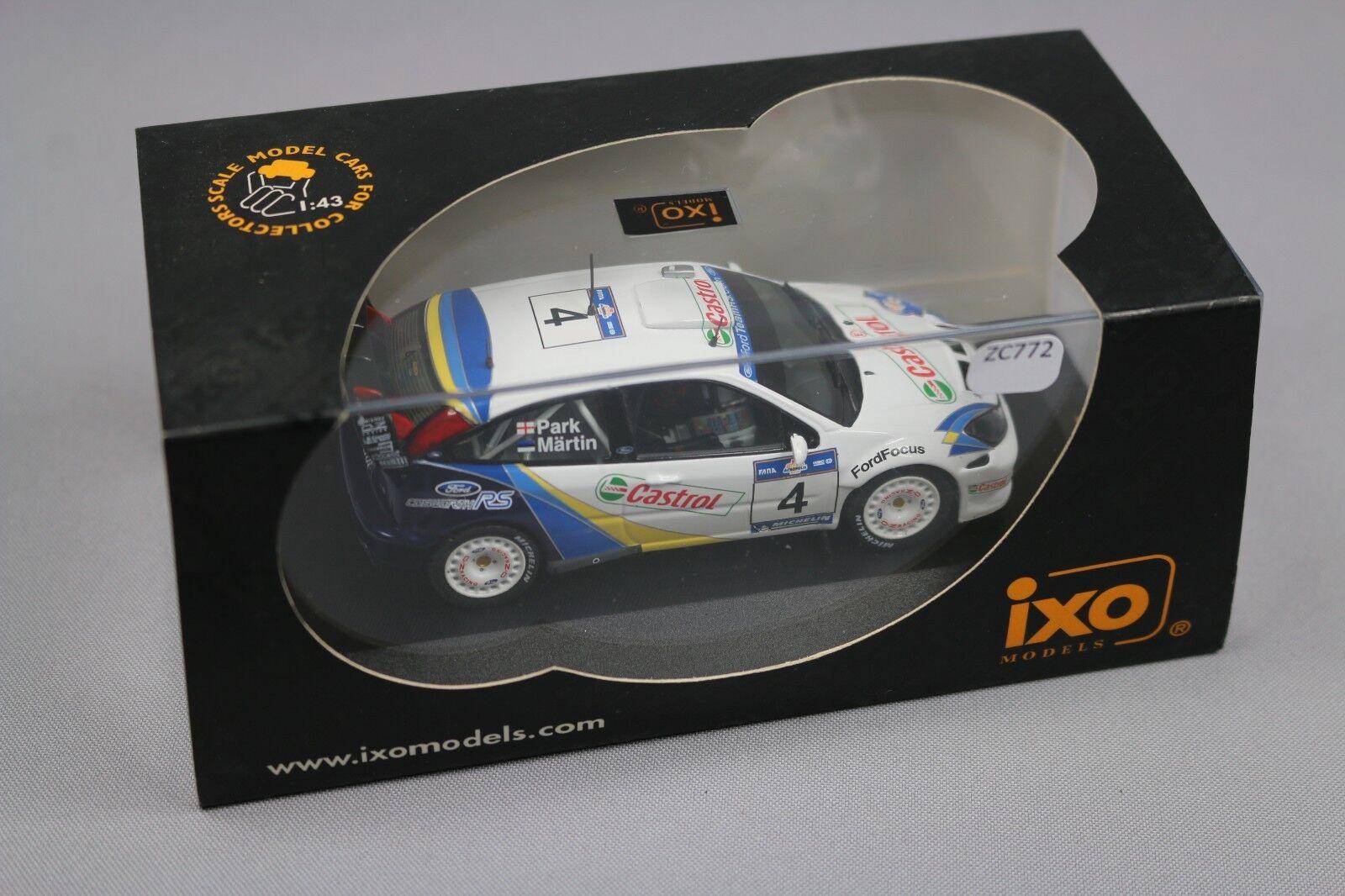ZC772 Ixo RAM117 Miniature Voiture 1 43 Ford Focus RS Wrc Evo 3 Acropolis 2003